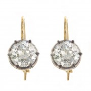 2.00ct ttw Old European Cut Antique Diamond Earrings
