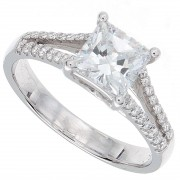 1.24ct Princess Cut Diamond Engagement Ring