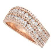 Ladies 0.87ct Rose Gold Diamond Ring
