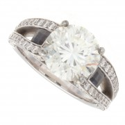 3.70ct Round Cut Diamond Engagement Ring